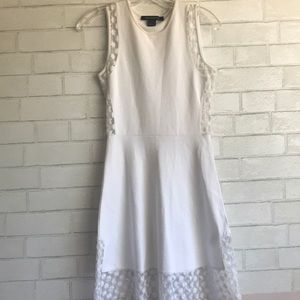 French Connection White Lace Fit and Flare Dress
